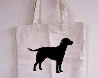 Dog Silhouette Natural Tote Bag