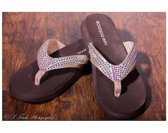 Rhinestone Flip Flops
