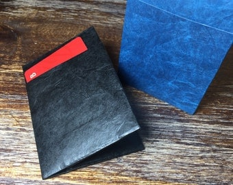 Card holder, thin wallet made out of durable Tyvek