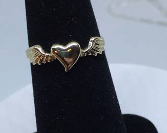 14 K  (Heart With Wings) Free Shipping