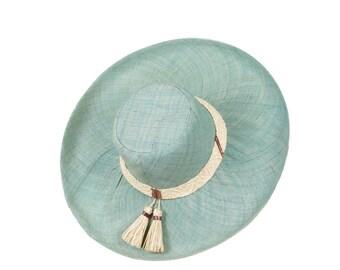 Wide brim Sun Hat - handwoven raffia