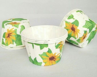 High Quality Pleated Sunflower Floral Baking Cups Cupcake Cases Muffin Cups