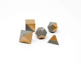 Geometric Shape Set: Gold