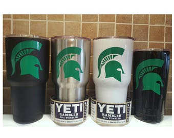 YETI - Authentic MSU MICHIGAN State Spartans Yeti Cup Mug 30 oz or 20 oz Rambler Spartans Fan Grad Gift Student Unique Custom Idea 30oz 20oz