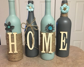 Home wine bottles
