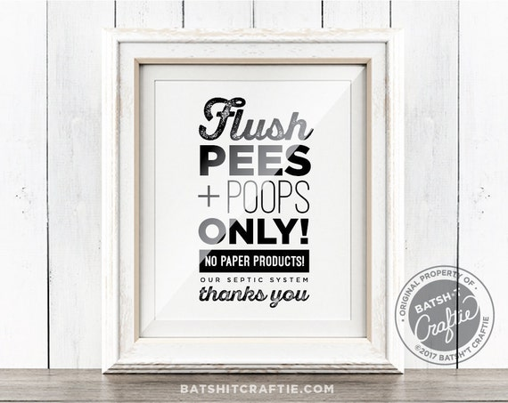 Bathroom Sign No Tampons bathroom sign printable sensitive plumbing septic system flush