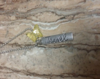 Travel with butterfly necklace