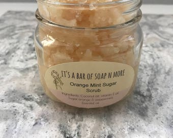 Orange Mint Sugar Scrub