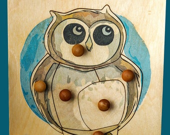 Owlet Puzzle (6 pieces) Woodland Collection