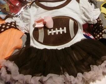 Clearanced!!!Infant girls football onesie dress