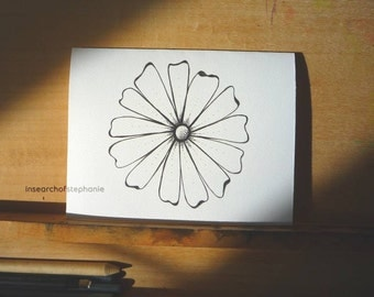 All Occasion Greeting Card - Ink Flower