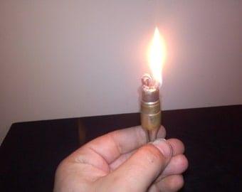 Antique 1930 lighter,handmade lighter,rare lighter,petrol lighter,bullet lighter,cigarette,collectible,functionally