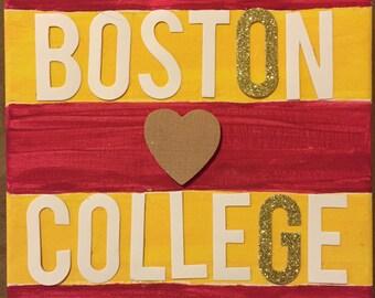 Boston College; canvas; wall; art; eagles; university; painting; dorm; decor;