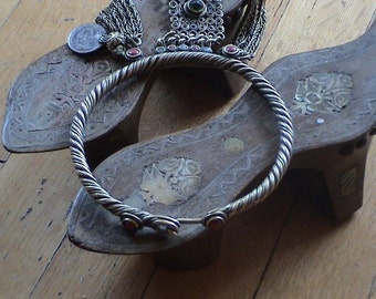 Antique Turkish  Hammam  shoes with mother of pearl