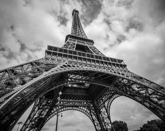 Eiffel Tower Black & White, Paris Photography, France Wall Print, Eiffel Tower Print, Paris Fine Art Photography