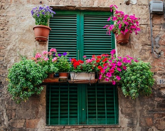 Flower Decorations, Tuscany Italy Photography