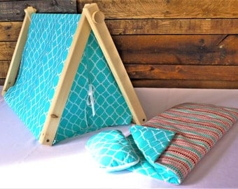 """Made for American Girl 18"""" Dolls. A-frame tent."""