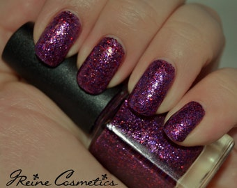 Chalmation - Purple Pink Glitter Nail Polish