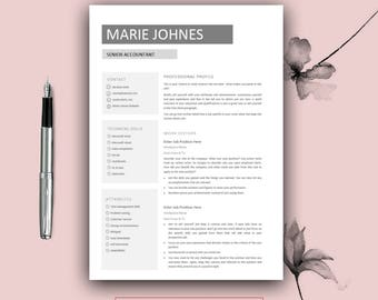 Simple Resume Template Free Word Free Resume Template  Etsy Resume Template High School Pdf with Sample Of Resume Word  Tips For Resumes Pdf