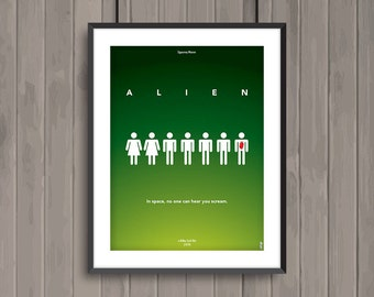 ALIEN, minimalist movie poster