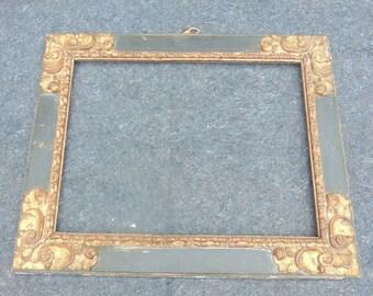 17th Century Polychrome Frame
