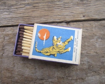 Rare Soviet matches USSR matchbox collector collectable soviet wooden matches box safety matches vintage matchbox tiger