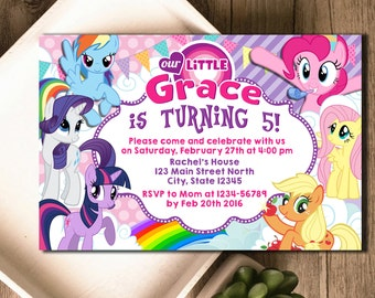 My Little Pony Invitation / My Little Pony Birthday / My Little Pony Birthday Invitation / My Little Pony Party Invitation / My Little Pony