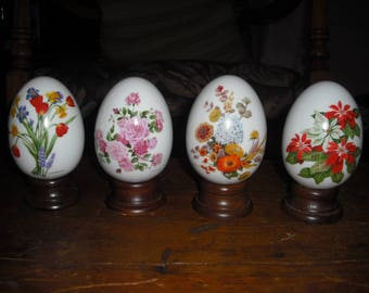 Avon's ceramic eggs are adorned with Flowers for every season.