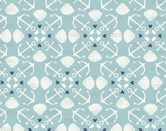 Nautical 2 Fabric by Laura_May_Designs
