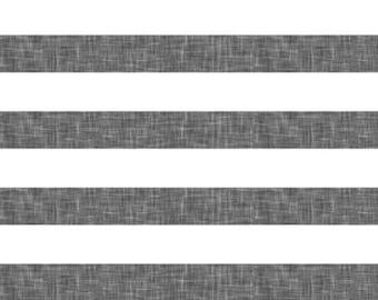 Stripes - Grey Linen Fabric by littlearrowdesigncompany