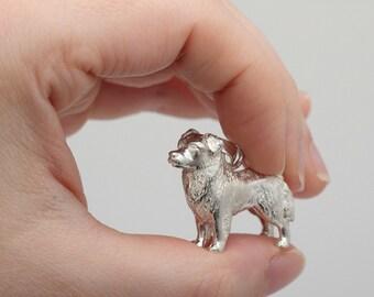 Vakkancs Australian Sheperd (Aussie) pendant (solid sterling silver, 3D)