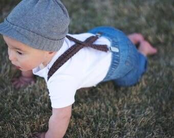 PDF Crochet Pattern Baby Suspenders