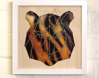Geometric Tiger Wall Art