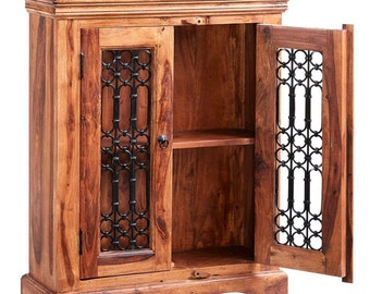 Jali 2 door 2 drawer sideboard/cabinet - Indian oriental sheesham furniture