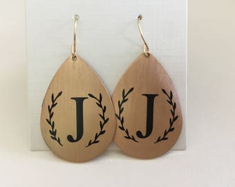 earrings | Monogrammed Dangle earrings | personalized earrings | monogrammed earrings | initial | monogrammed jewelry | bridesmaids gifts