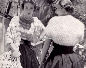 Vintage Blouse , Stole and Shrug crochet patterns in PDF instant download version , e-pattern