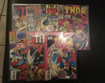 Thor Comic Book Lot (392, 419, 436, 463, 468, 472, 477)