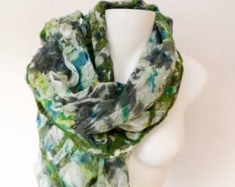 Light silk summer scarf
