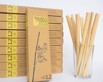10 Packs of 12 Reusables straws. Handmade in Bali with 100% natural Bamboo. Great for Shops, gifts and more. Washable, reusable and organic.