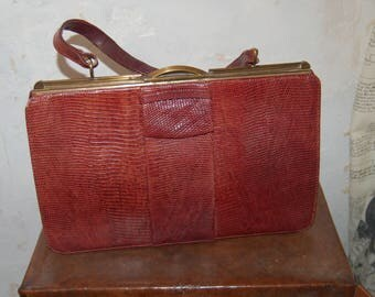 Vintage lizard skin handbag Linslade of London