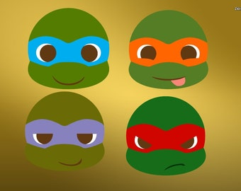 turtle face SVG Clipart Cut Files Silhouette Cameo Svg for Cricut and Vinyl File cutting Digital cuts file DXF Png Pdf Eps vector clip art