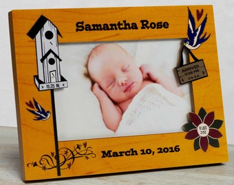Personalized Baby Picture Frame,  Baby Girl Picture Frame, New Baby Girl Frame, Baby Girl Frame, Baby Girl Birth Frame, Frame Baby Girl