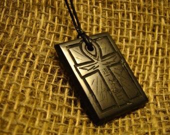 "Shungite pendant ""Egyptian cross"" from Karelia mascot."