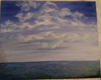 16 x 20  Original Oil Ocean Scene