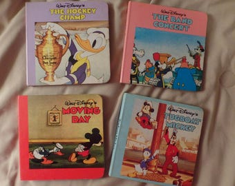 Lot of 5 Walt Disney Mickey Mouse Donald Duck Cartoons Board Books