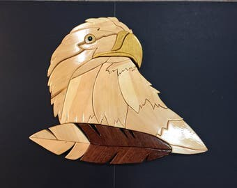 "Intarsia-BIG ""Ever Watchful"" Eagle"