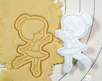 Cute Ballerina Cookie Cutter and Stamp