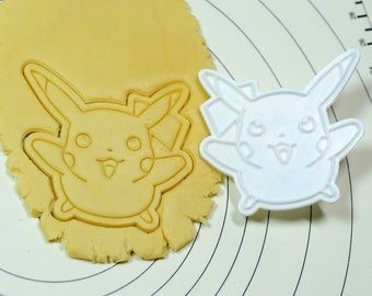 Flying Pikachu Cookie Cutter and Stamp