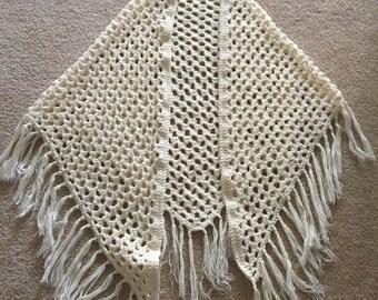 Crochet Shawl - Fringe Crochet Shawl