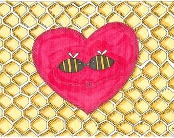 Card Illustration - Love